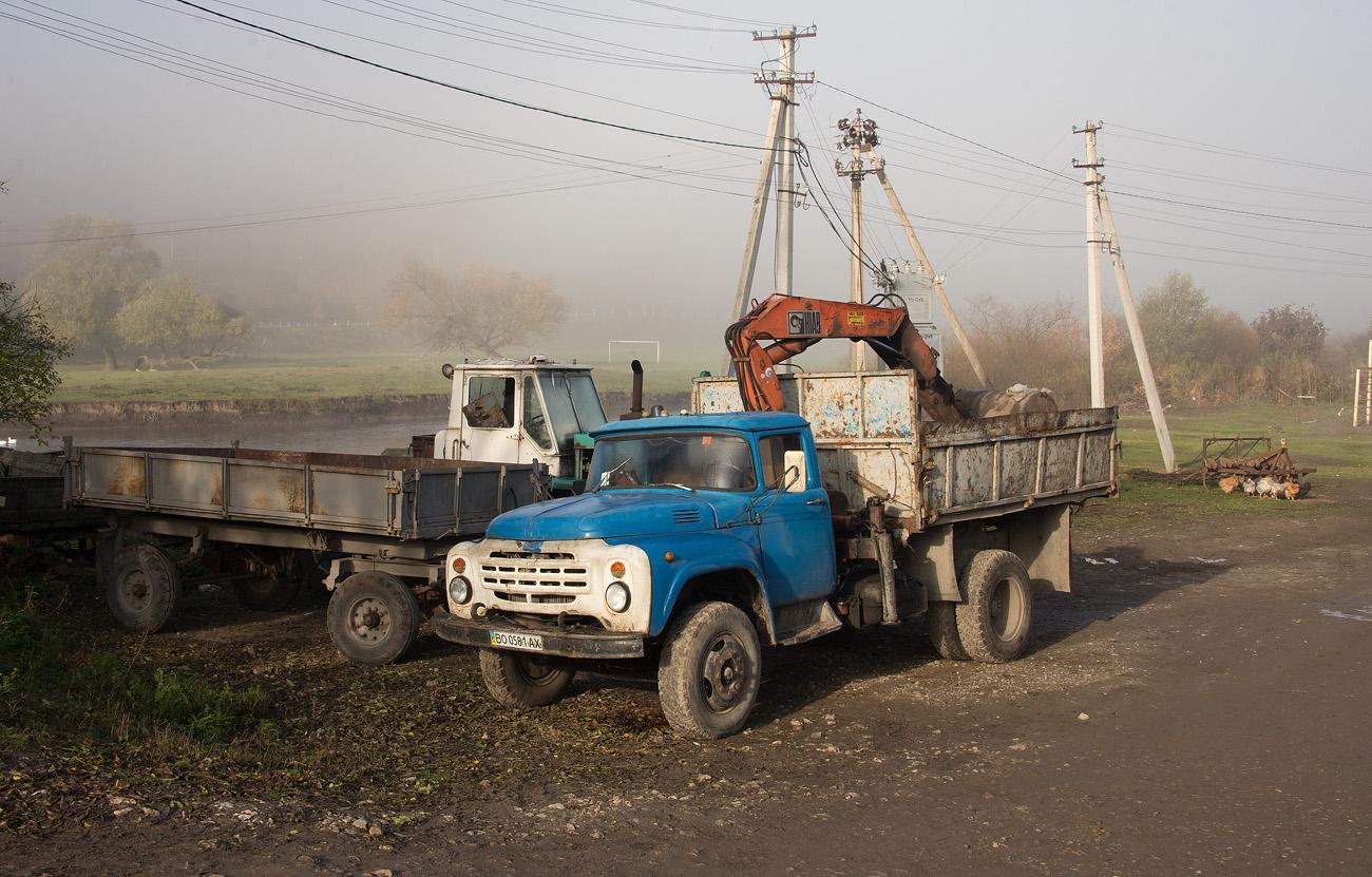 Автомобиль ЗиЛ-431410 с гидрокраном. #ВО 0581 АХ. Тернопольская область, Теребовлянский район, с. Кровинка