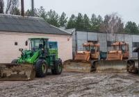 Фронтальный погрузчик PN956 и бульдозеры на базе гусеничных тракторов Т-170* и Т-130* . Украина, Житомирская область, Игнатпольский песчаный карьер