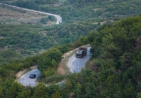 Автомобиль КамАЗ-55111  . Грузия, Кахетия, автодорога Сигнаги - Цнори