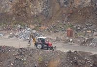 Экскаватор-погрузчик Борекс-2203 на базе трактора МТЗ-80.1.26.  Житомирская область, Малинский гранитный карьер