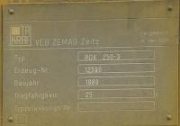 Заводская табличка крана RDK-250.3 Зав.№12366.