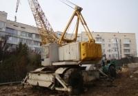 Кран МКТ-40 в агрегате с одноосным тягачом МоАЗ-546П. Севастополь