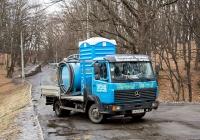 Коммунальная машина для обслуживания туалетных кабин на базе грузовика Mercedes-Benz LK #АА 6732 MT. Киев, Голосеевский парк им. Максима Рыльского