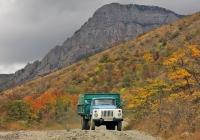 ГАЗ-САЗ-3507 #н 1270 МЯ спускается с перевала в с. Приветное. АР Крым, Дорога Белогорск - Приветное