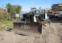 Бульдозер Д-686 на базе трактора Т-100М № 46-27 ДБ. Усть-Каменогорск, Аблакетский причал