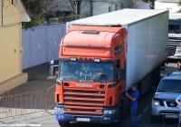Седельный тягач Scania 114L, #А 337 ТС 21. АР Крым, Керченская паромная переправа, порт Крым