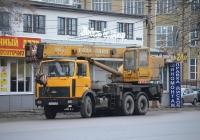 """Автокран КС-55713-6В """"Галичанин"""" на шасси МАЗ-6303, #С 427 ХХ 71. Тула, улица Лейтейзена"""