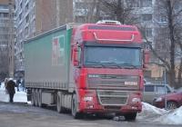 Седельный тягач DAF FT XF95, #Р 785 ВУ 71. Тула, улица Ряжская