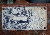 Заводская табличка бурильно-крановой машины БМ-205В.