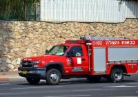 Пожарный автомобиль на базе Chevrolet Silverado 3500, #16. Израиль, Хайфа