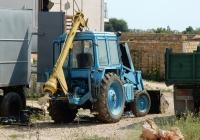 Бурильно-крановая машина БМ-205-01 на базе трактора МТЗ-80. Севастополь