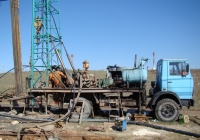 Буровая установка УРБ-3А3 на шасси МАЗ-5337. Севастополь