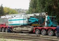 Буровая машина Casagrande B 250 в транспортном положении. Севастополь