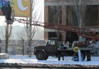 Работы с использованием вышки АП-17А на шасси ГАЗ-3307*. Николаев ,проспект Мира