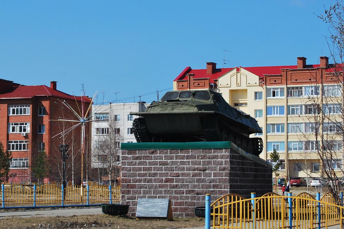 Гусеничный транспортёр-тягач ГТ-Т. Ханты-Мансийский АО, Пойковский, 4-й микрорайон