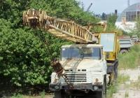 Кран КС-4562 на шасси КрАЗ-250К. Крым, Симферопольский район, поселок Комсомольское
