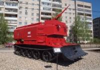 Гусеничная пожарная машина ГПМ-54 на базе танка Т-54. Иваново, улица Шубиных
