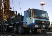 Мобильная установка для бурения и ремонта скважин САТ-ТВ-120 на шасси Mercedes-Benz Actros 4150АК #1433 НА 86. Ханты-Мансийский АО, Усть-Балыкское месторождение