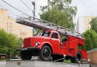 Пожарный автомобиль АЛГ-17(51)-ЛЧ на шасси ГАЗ-51А на постаменте. Москва, улица Вавилова