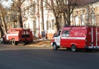 Аварийно-спасательный автомобиль АСА-М (ГАЗ) #3785 Ч2 и пожарная автоцистерна АЦ-40(130)-63Б  #3479 Ч2. Николаев, улица Никольская