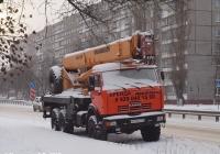 Автокран КС-45717К-3Р на шасси КамАЗ-43118 (шасси) #М 179 РО 152. Нижний Новгород, проспект Бусыгина