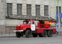 Пожарная автолестница АЛ-30(131)ПМ-506 на шасси ЗИЛ-131Н #М 196 СУ 37. Иваново, проспект Ленина
