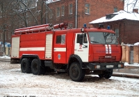 Пожарная автоцистерна АЦ-8,0-40(53229) на шасси КамАЗ-53229 #С 113 ВА 37. Иваново, улица Варенцовой