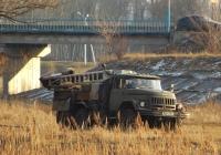 Бурильная установка ПБУ-50М на шасси ЗиЛ-131Н # 1841 ВВС. Белгородская область, г. Алексеевка, Набережная улица