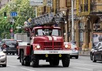Автолестница пожарная АЛ-30(131)-ПМ506 на шасси ЗиЛ-131Н #005-88 КА. Киев, Большая Васильковская улица