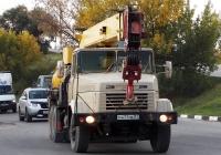 Автокран КС-4574 на шасси КрАЗ-250 # М 477 МЕ 31. Белгородская область, г. Алексеевка, улица Тимирязева