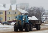 Трактор Т-150К с прицепом 1ПТС-9. Белгородская область, г. Алексеевка, улица Тимирязева