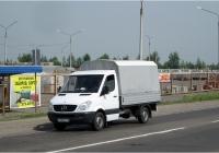 Бортовой грузовик Mercedes Benz Sprinter #P 113 ET 19. Красноярский край, трасса Железногорск-Красноярск, Сосновоборский район