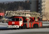 Пожарная автолестница АЛ-50(65115)ПМ-513А на шасси КамАЗ-65115 #М 646 АХ 124. Красноярский край, Железногорск, Ленинградский проспект