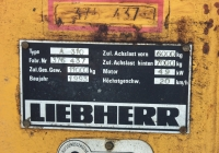 Заводская табличка экскаватора Liebherr A310. Севастополь