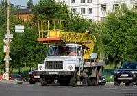 Автоподъёмник АП-18-04 на шасси ГАЗ-3307* #081-02 КВ  с двухместной кабиной. Киев, Голосеевская улица