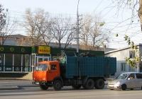 Мусоровоз МК-20-01 на шасси КамАЗ-53215 #О 357 СУ 54. Новосибирск, улица Никитина