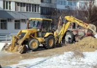 Экскаватор-погрузчик Атек-999Е. Севастополь