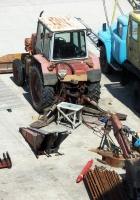 Экскаватор-бульдозер ЭО-2103 на базе трактора ЮМЗ-6* в процессе ремонта #08140 КН. Крым, Симферополь