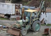 Экскаватор-бульдозер ЭО-2621В на базе трактора ЮМЗ-6КЛ. Крым, Ялта