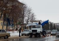 Автоподъёмник на шасси ГАЗ-3309 #О 803 ВК 31. Белгородская область, г. Алексеевка, улица Победы