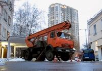 Автоподъёмник ПСС-141.28Э на шасси КамАЗ-43253 #АА 5981 НО. Киев, Голосеевский проспект