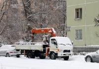 Автомобиль с гидроманипулятором Hyundai HD78 #Т 546 МУ 124. Красноярский край, Железногорск, Октябрьская улица