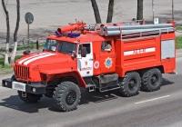 Пожарная автоцистерна АЦ-6,0-40(5557)-28-ТВ на шасси Урал-5557-40 #A 479 FU. Алматы, проспект Рыскулова