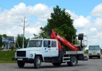Автоподъёмник Чайка-Сервис 27846S на удлинённом шасси ГАЗ-3309 #Н 314 НХ 31. Белгородская область, г. Бирюч, Красная улица
