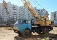 Кран СМК-10 на шасси МАЗ-5334 #А 363 РС 82. Крым, Евпатория