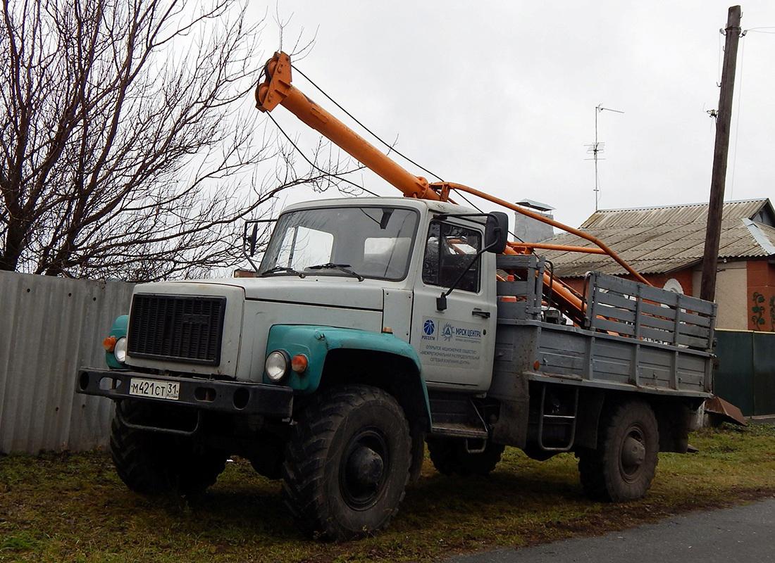 Бурильная установка БКМ-317 на шасси ГАЗ-3308 «Садко» # М 421 СТ 31. Белгородская область, п. Ивня, улица Космонавтов