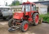 Трактор ЛТЗ-60АВ с навесным коммунальным оборудованием. Россия, Тверская область, Удомля, Вышневолоцкое шоссе