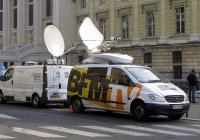 Передвижная телестудия на базе минивена Mercedes-Benz Viano, #121 FPS 92. Франция, Париж