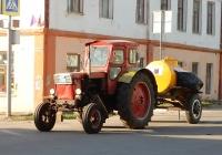Трактор Т-40М #9163 ОУ 57 с прицепом-цистерной АЦПТ-0,9. Орловская область, Мценск