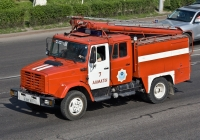 Пожарная автоцистерна АЦ-2,5-40(433362) на шасси ЗиЛ-433362 #A 395 EV. Алматы, улица Саина